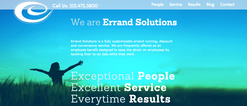 Errand Solutions website