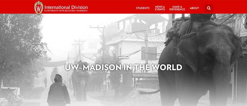 University of Wisconsin International Division website